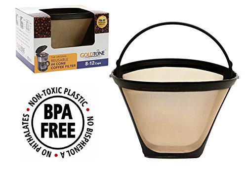 bpa free u2013 oxo style goldtone brand reusable 4 cone oxo coffee filter for oxo coffee makers and machines