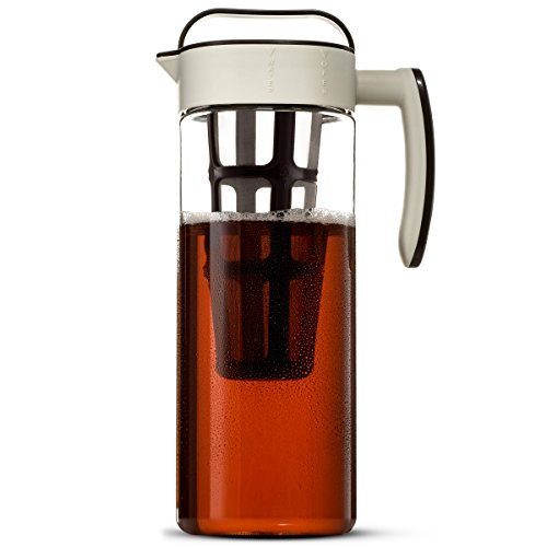a musttry for coffee lovers about this product u2022 durable tritan plastic long stainless steel mesh filteru2022 safe for hot wateru2022 2 litersu2022 stores