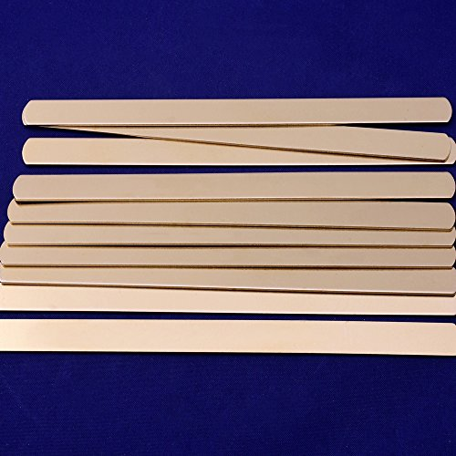 """1 5//8/""""*3//8/"""" Brass Rectangle Tag Blanks For Hand Stamping Blank 18 Gauges 10pcs"""