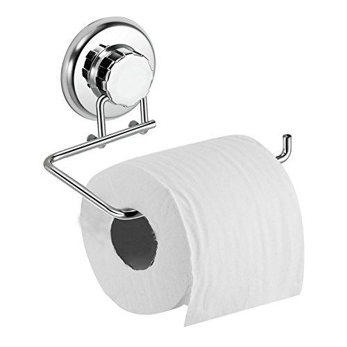Stainless Steel Suction Cup Hanger Hat Hook Toilet Paper Towel Holder KI