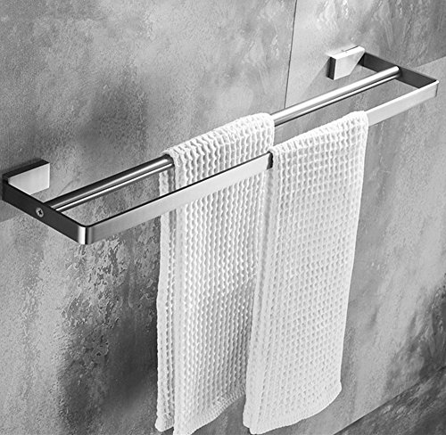 ELLOu0026ALLO 24 Inch Bathroom Double Towel Bar Holder,SUS 304 Stainless Steel  Wall Mounted Shelf Rack Brushed Nickel