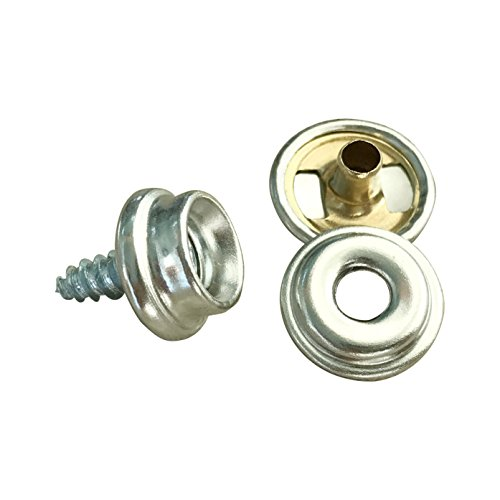 50 PRO Boat Marine Canvas Cover Stainless Steel Screw in Canvas Snap Studs 3//8/""