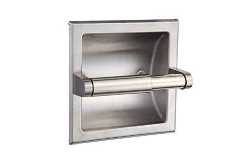 smack brushed nickel recessed toilet paper holder u2013 includes rear mounting bracket