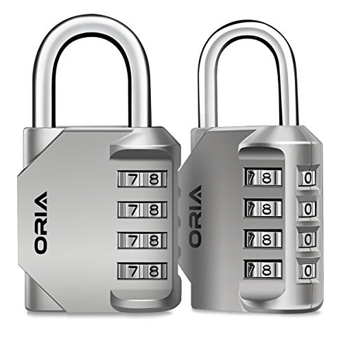 for Sheds Pack 2Pcs Combination Padlock 4-Digit Combination Lock Toolbox Gym