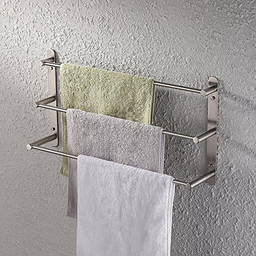 Kes 3 Tiers Bath Towel Bar 23 6 Inch Stainless Steel