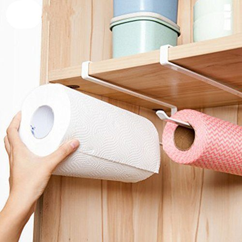 Paper Holder Organizer Dispenser Bath WC Tissue Holder Cabinet Drawer  Bathroom Kitchen Storage Over Door Towel Rack