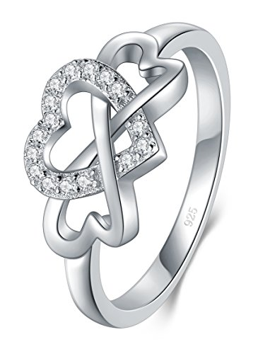 Infinity Forever Clear CZ Classic Ring New .925 Sterling Silver Band Sizes 5-10
