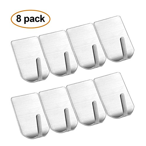24 Pack Utility Room Self Adhesive Tape Backing Garage White Office Kitchen 1 Round mDesign Modern Small Plastic Single Wall Hook Mini Storage Organizer for Bathroom Laundry Closet