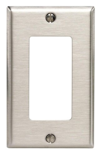Leviton 84003-40 6 Pack 1-Gang Duplex Device Receptacle Wallplate