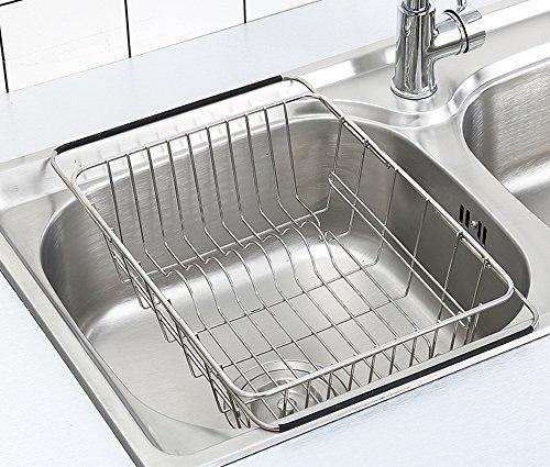 Adjustable Dish Drying Rack Over Sink Szuah 18 8