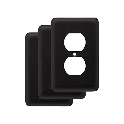 Amerelle Devon Single Duplex Steel Wallplate In Black  U2013 Freebumble